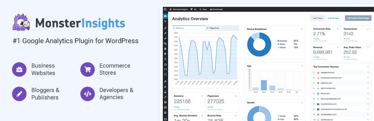 Google Analytics Dashboard by MonsterInsights