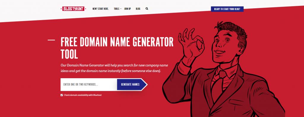 blogtyrant - Domain Name Generator