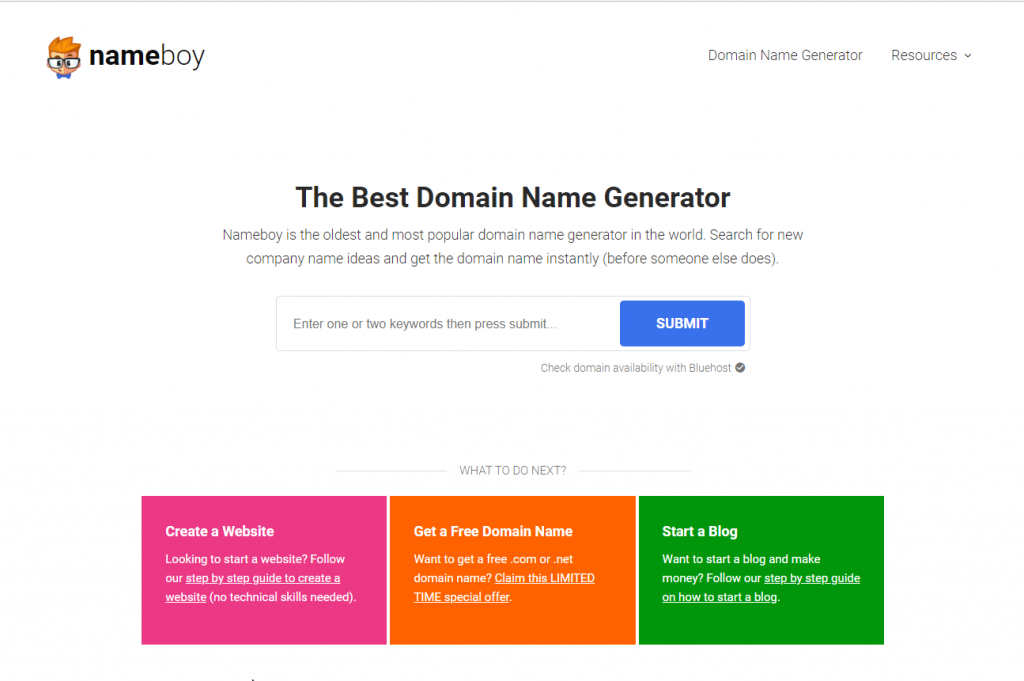 nameboy - Domain Name Search