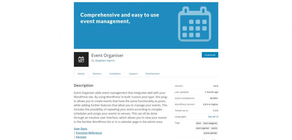 1. Event Organiser
