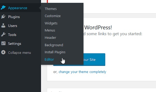Log in to WordPress and Add the Code