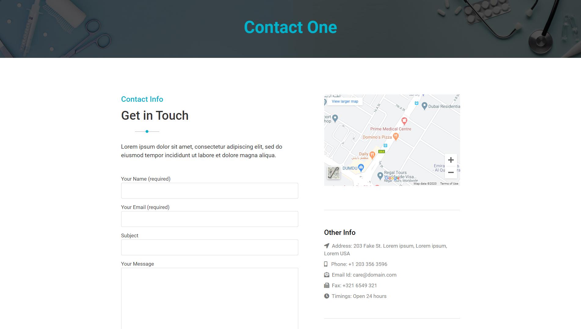 Contact One - MediHealth Premium