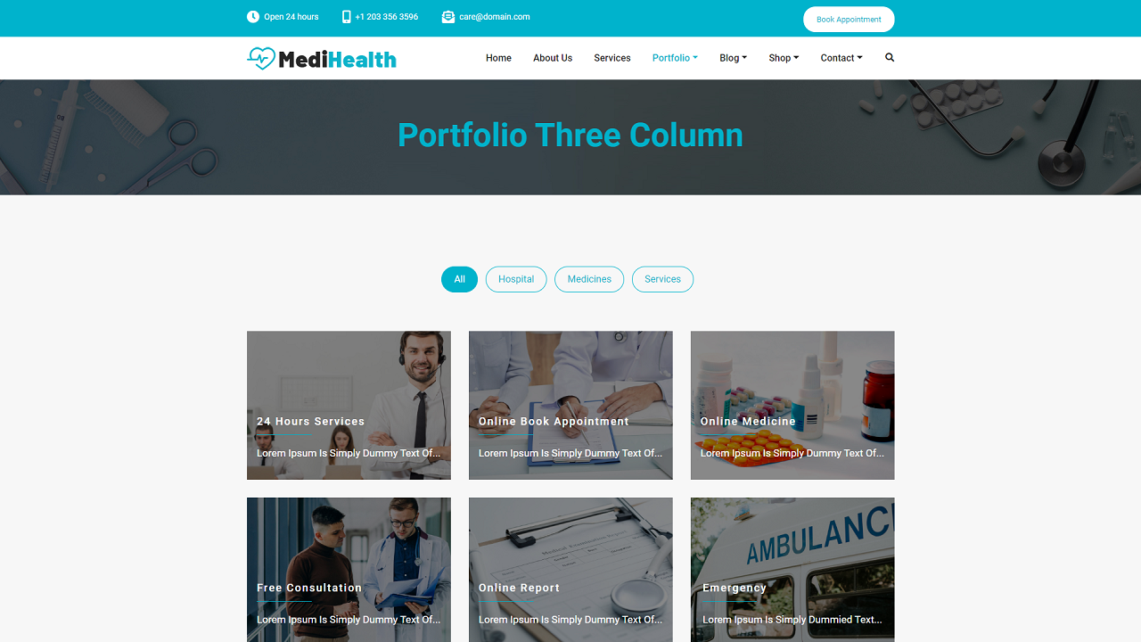 Portfolio Three Column