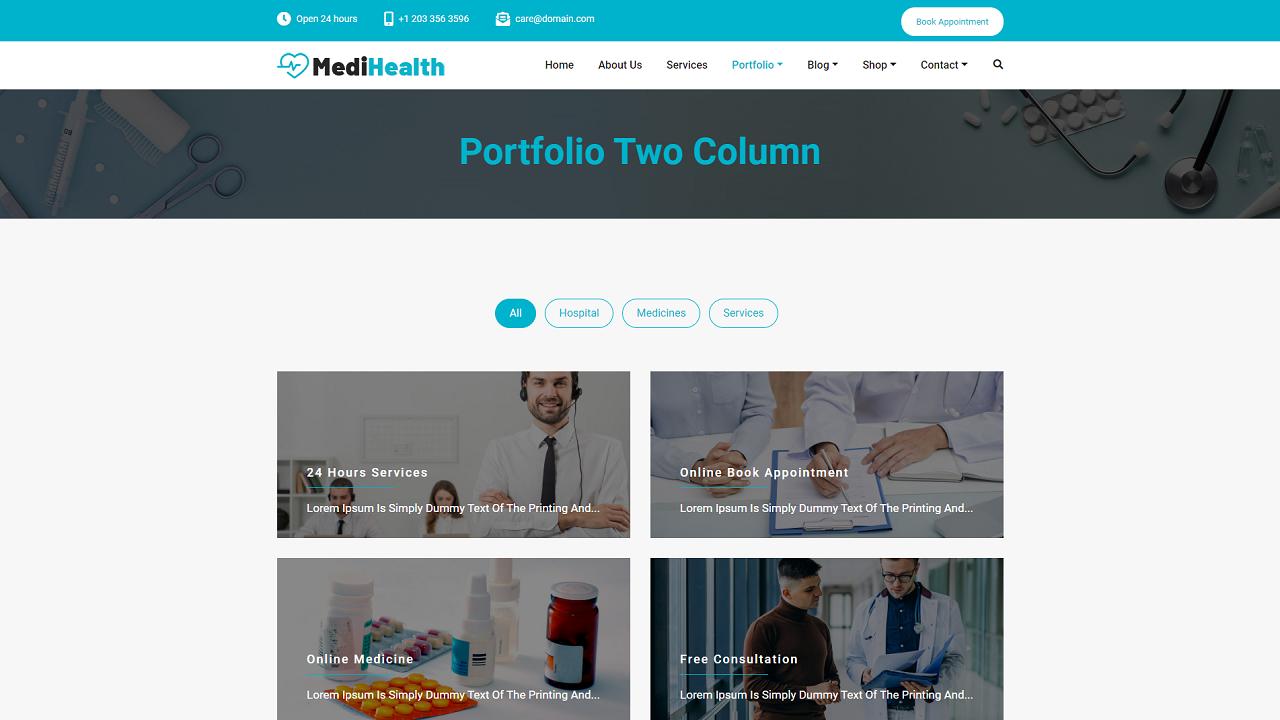 Portfolio Two Column