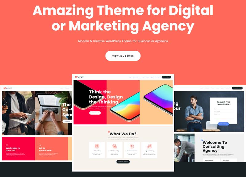 Yungen - A Modern Digital Agency Business WordPress Theme