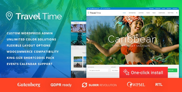 Travel Time - Travel Website Theme