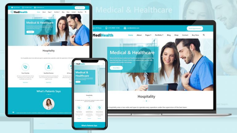 MediHealth Free WordPress Theme Setup Complete