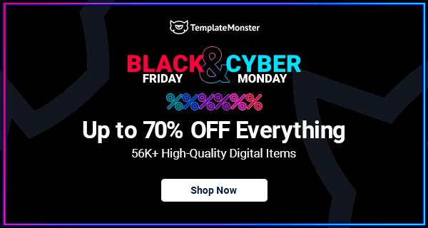 TemplateMonster Black Friday & Cyber Monday Offer