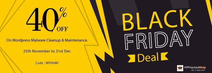WPHH hacked help black Friday deal offer