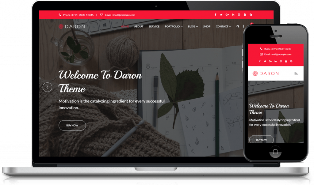 Daron -  best WordPress themes
