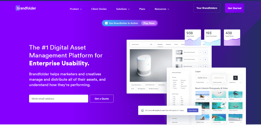 Brandfolder, you can easily share assets with others