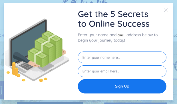 create a popup without technical experience